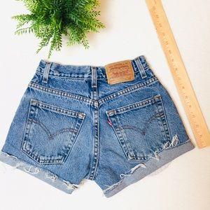 "24.5"" Levi's Custom Jean Shorts (Girls 9)"